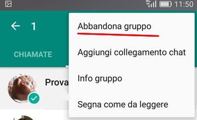 Come abbandonare un gruppo WhatsApp