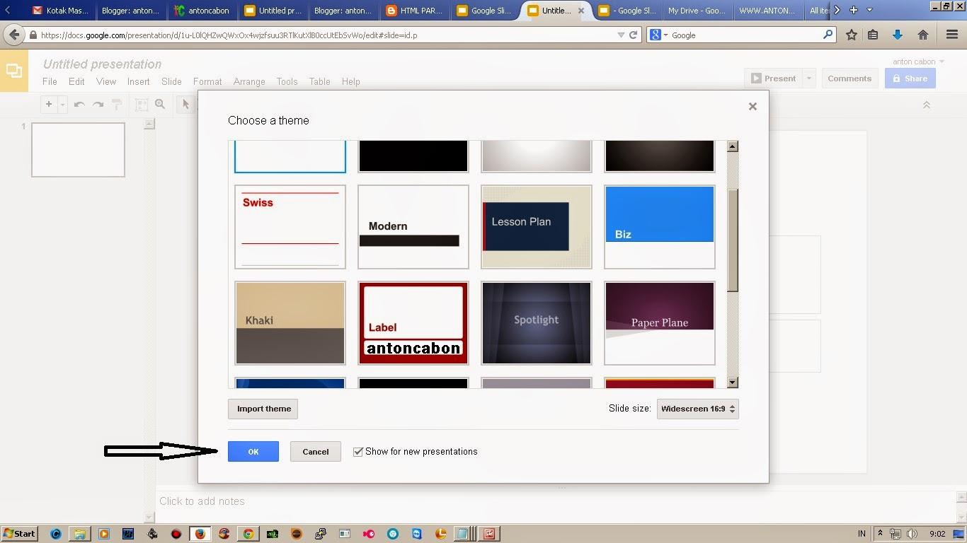 Cara membuat slides Google