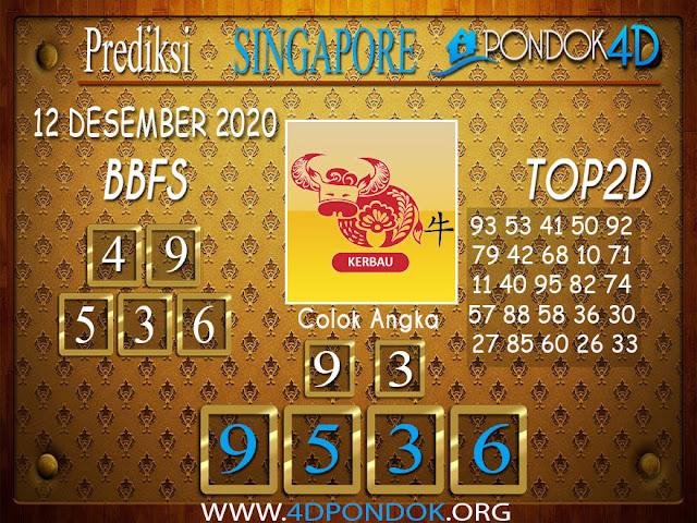 Prediksi Togel SINGAPORE PONDOK4D 12 DESEMBER 2020