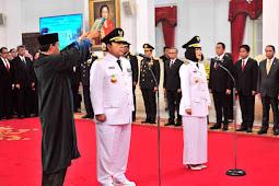 Jokowi Lantik Arinal Djunaidi dan Chusnunia Chalim Sebagai Pemimpin Provinsi Lampung