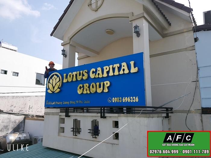 Thi công bảng hiệu chữ nổi Mica Alu tại Phú Quốc