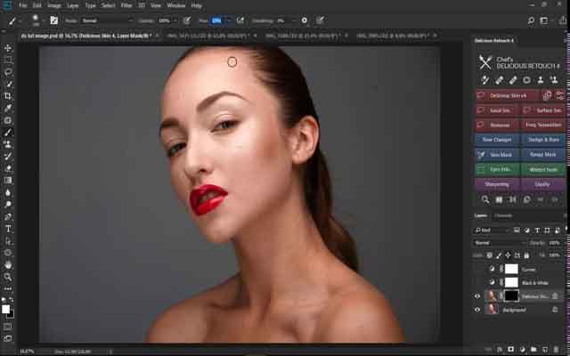 Delicious Retouch Panel Photoshop F.U.L.L - Plugin chỉnh da hoàn hảo