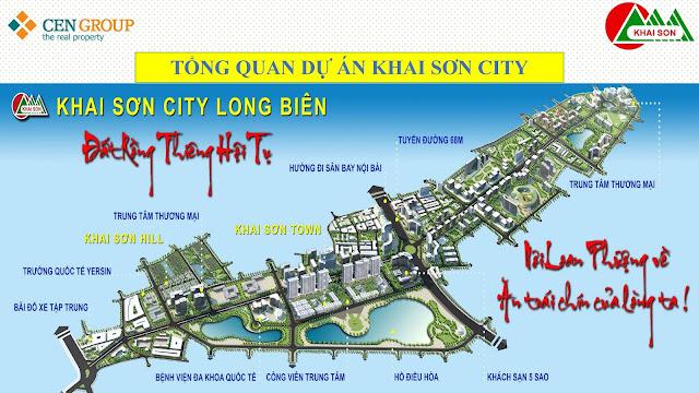 Vị trí quy hoạch toàn cảnh Khai Sơn City Long Biên