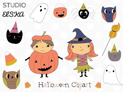 Halloween Clipart Set! And Giveaway!