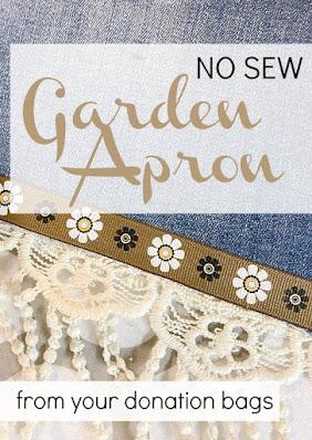 Garden apron pinterest pin with apron