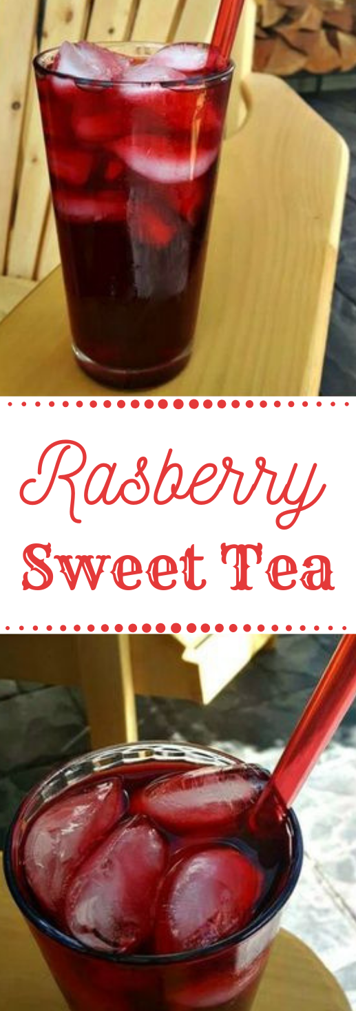 Raspberry Sweet Tea #raspberry #drink #fres #tea #cocktail