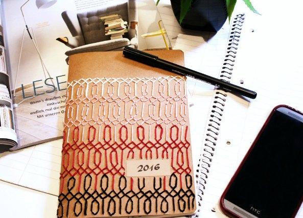 Cuaderno planing con tapa bordada