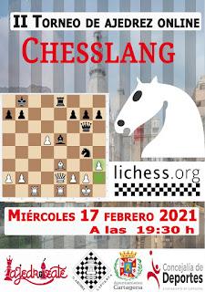 II Torneo online Chesslang (miercoles 17-02- 21, 19:30)