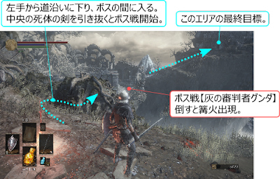 DarkSouls3 灰の審判者グンダ 攻略 地図 マップ