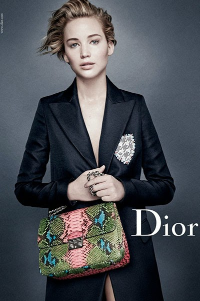 Jennifer Lawrence in a new advertising campaign Dior