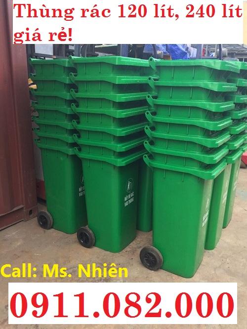 Thùng đựng rác, thùng rác 120 lít, 240 lít giá rẻ