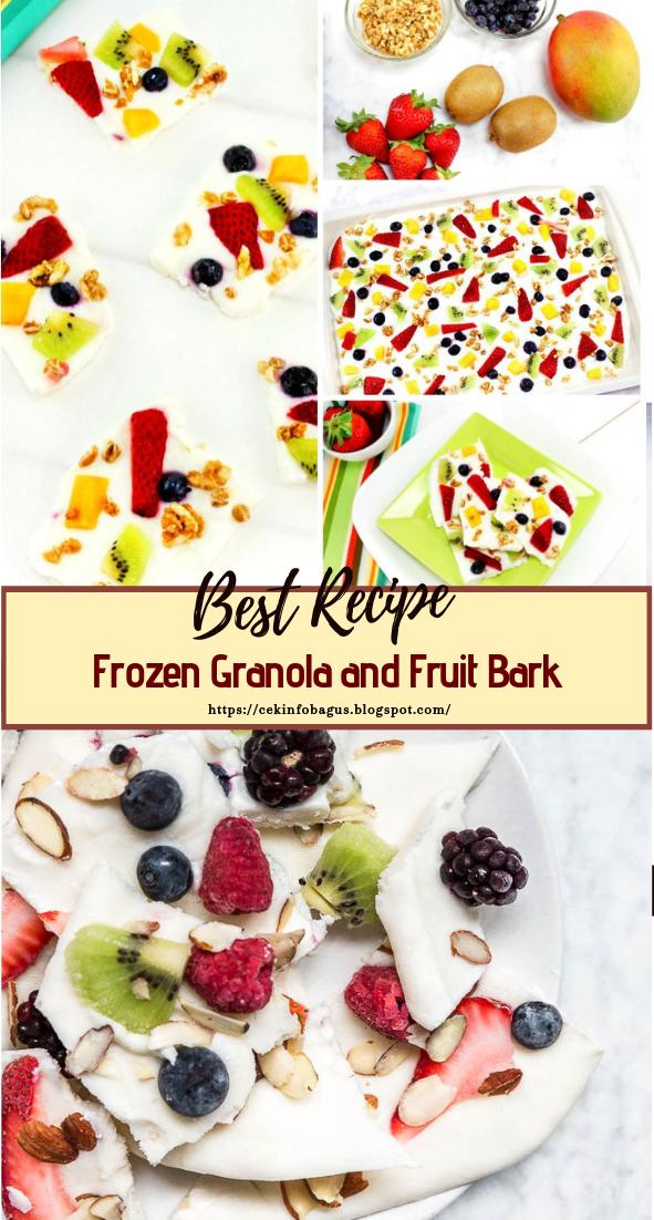 Frozen Granola and Fruit Bark #healthyfood #dietketo #breakfast #food