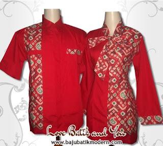 Contoh Model Baju Batik Resmi Kombinasi
