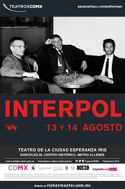 INTERPOL ANUNCIA.CONCIERTOS EN LA CDMX