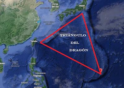 Mapa Triángulo del Dragón - Océano Pacífico