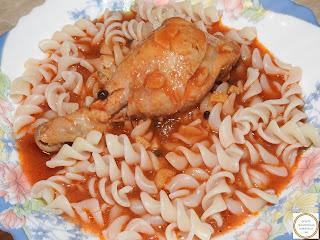 Ostropel cu carne si paste reteta,