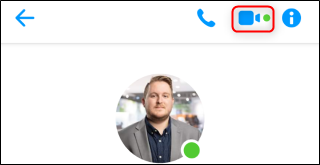 زر محادثة فيديو Facebook Messenger