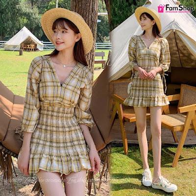 Váy maxi đi biển V287