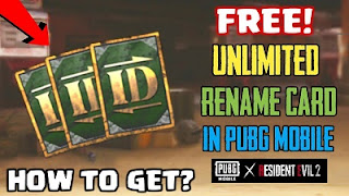 How To Get Another Rename Card In Pubg