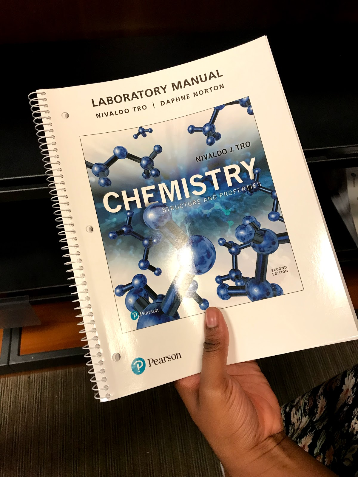 Image: Chemistry book at school bookstore