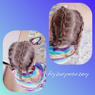 Czztery warkocze holenderskie-warkocze-fryzura wygodna