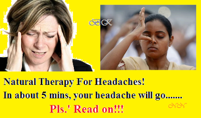 NATURAL THERAPHY FOR HEADACHE