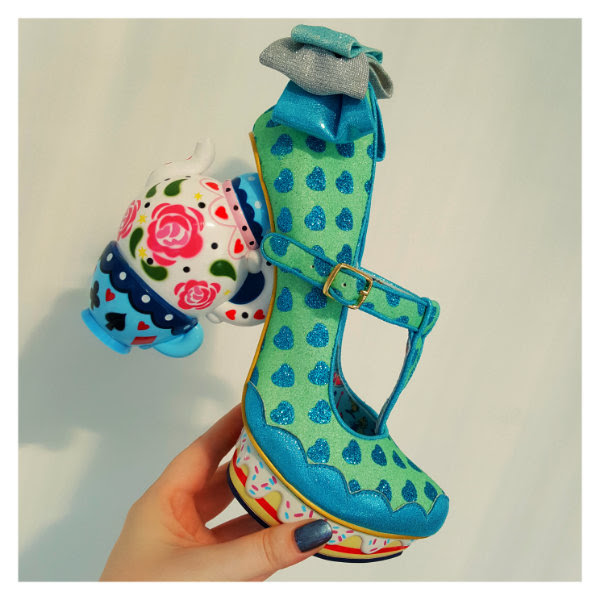 irregular choice alice my cup of tea blue shoe