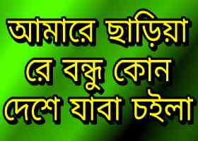 Amare Chariya Re Bondhu Lyrics (আমারে ছাড়িয়া রে বন্ধু লিরিক) Mp3 download