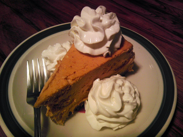 Pumpkin Cheesecake with Extra Whipped Cream