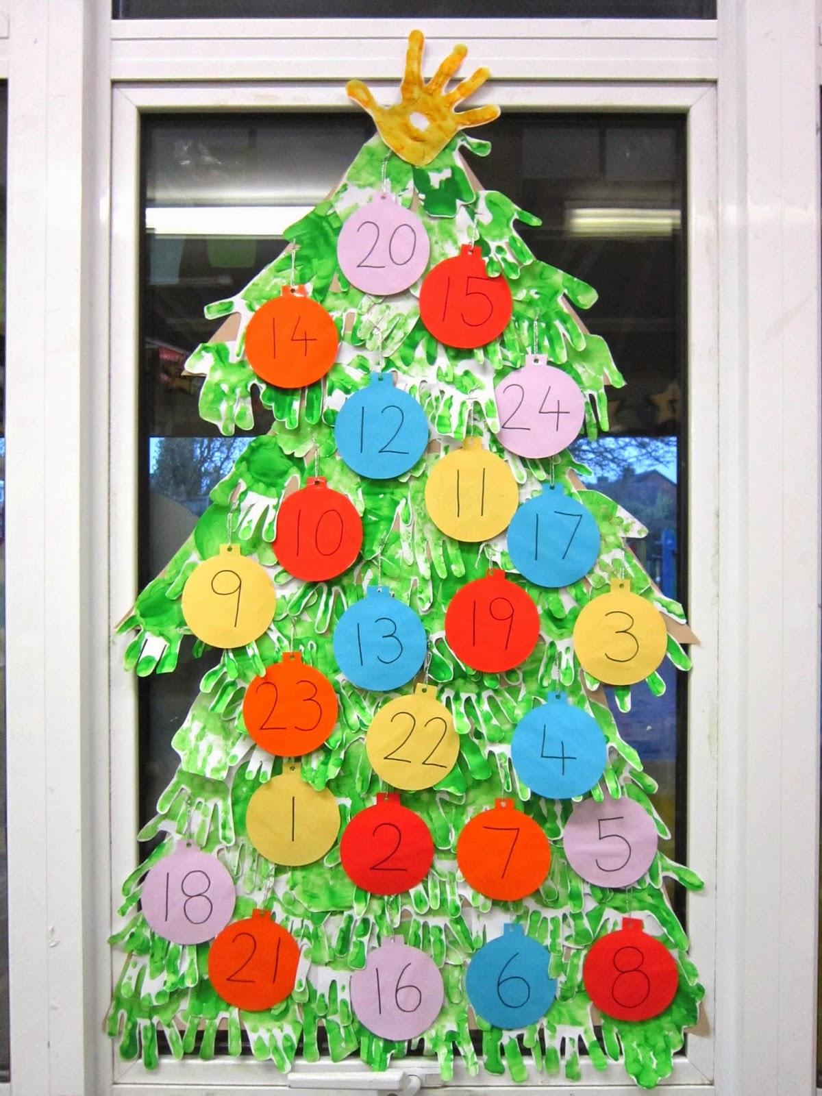 Always Arty Hand Print Tree Advent Calendar