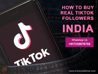 buy real tiktok followers india