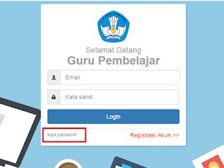 Password SIM Guru Pembelajar Lupa