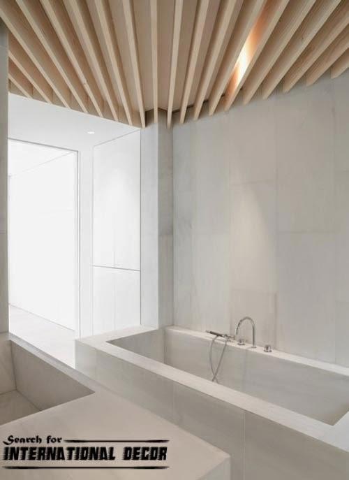 False ceilings for bathrooms