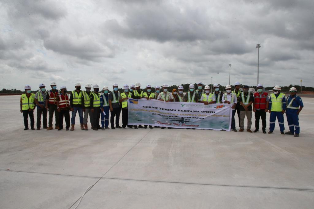 Pembangunan Taxiway dan Apron Pesawat Kargo di Bandara Hang Nadim Rampung