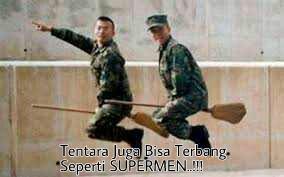 Gambar Lucu Tentara Army Indonesia Terbang