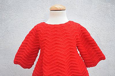 1 - Crochet Imagenes Mangas para vestido rojo navidad a crochet y ganchillo por Majovel Crochet