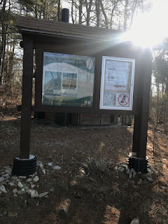 Kiosk at Cutts Island Trail in Kittery Maine