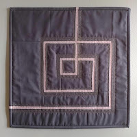 Curated Quilts modern log cabin quilt