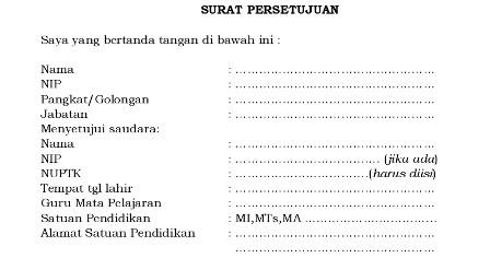 Surat Pernyataan Persetujuan Ijin Belajar S2