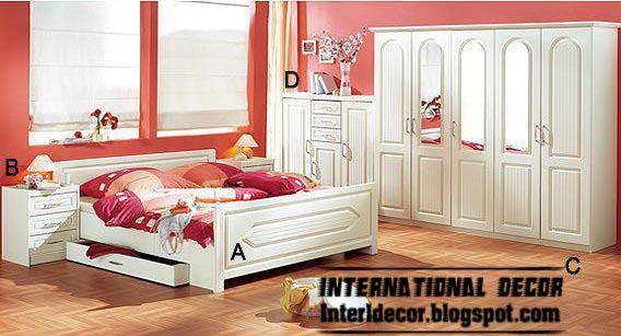 Clic Bedroom Furniture Designs In White Color 2017