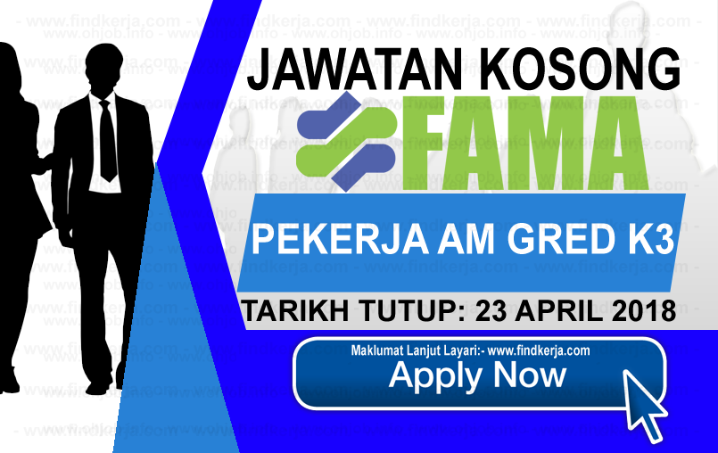 Jawatan Kerja Kosong FAMA -  Lembaga Pemasaran Pertanian Persekutuan logo www.findkerja.com april 2018