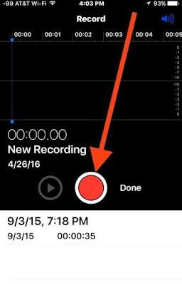cara merekam suara di iphone 6s