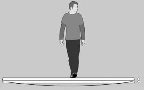 Deflexión con dos guaduas unidas verticalmente