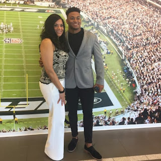 Jamal Adams With His Mother Michelle