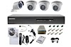 Paket Cctv 4 channel Hikvision 2mp (1080p)