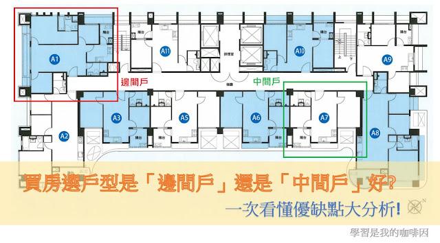 買房選戶型是「邊間戶」還是「中間戶」好_ 一次看懂優缺點大分析1_房地產筆記