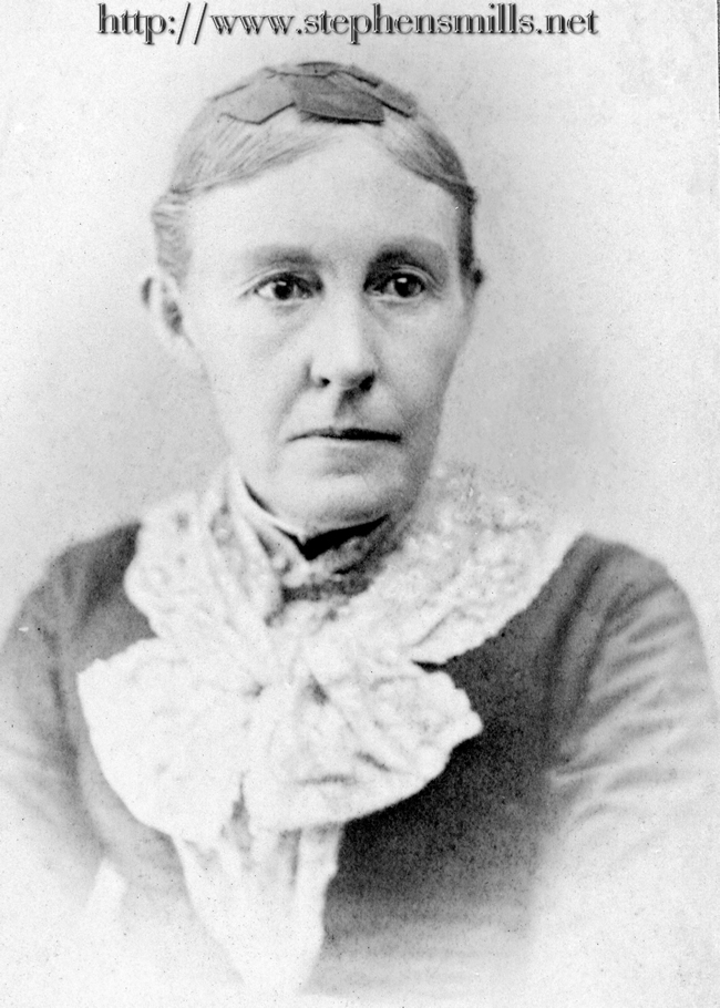 photo  Cordelia Berry Bacon born 8/17/1829 in Woodstock, Maine  Died 6/12/1904 in Woodstock, Maine  Daughter of Levi Berry 1777-1854 and  name variations on mother Susannah, Lusannah, Lusanna Bryant Berry 1785-1849