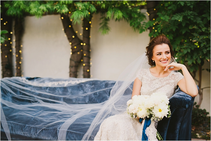 Bride with long veil from Blossom Veils // Photo by Closer to Love Photography via @thesocalbride