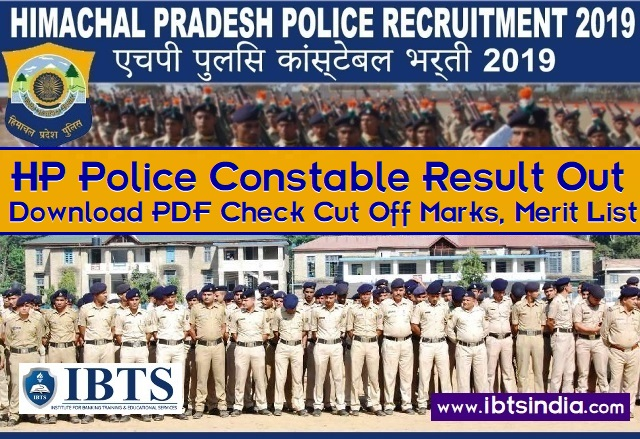 HP Police Constable Result 2019 Out  Check HP Constable Cut Off Marks, Merit List