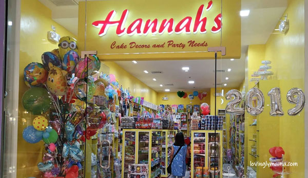 Hannahs Cake Decors and Party Needs - Bacolod party supplies - affordable Bacolod party needs - Bacolod mommy blogger - Bacolod branch -  Ayala Malls Capitol Central